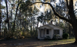 Gantt Cottage where Martin Luther King Jr. would stay will retreating to the Penn Center Campus.