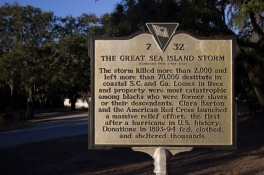The Great Sea Island Storm historical marker. 2/2